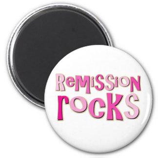 Breast Cancer Remission Rocks Fridge Magnets