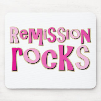 Breast Cancer Remission Rocks Mouse Pad