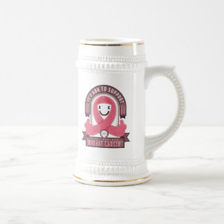 Breast Cancer - Retro Charity Ribbon - Beer Stein Beer Steins