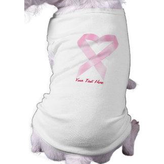 Breast Cancer Ribbon (customisable) Sleeveless Dog Shirt