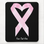 Breast Cancer Ribbon (customisable) Mouse Pad