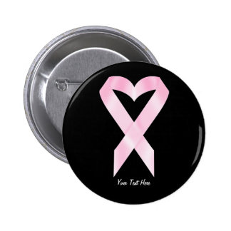 Breast Cancer Ribbon customizable Buttons
