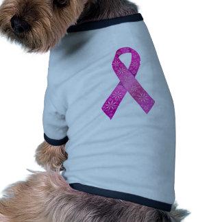 Breast Cancer Ribbon Dog T Shirt