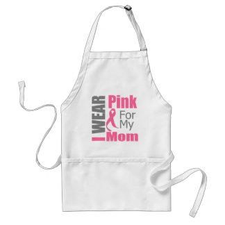 Breast Cancer Ribbon I Wear Pink Mom Adult Apron