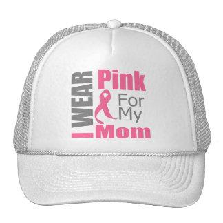 Breast Cancer Ribbon I Wear Pink Mom Trucker Hat