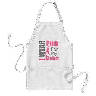 Breast Cancer Ribbon I Wear Pink Sister Standard Apron