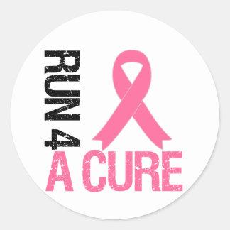 Breast Cancer Run 4 A Cure Stickers