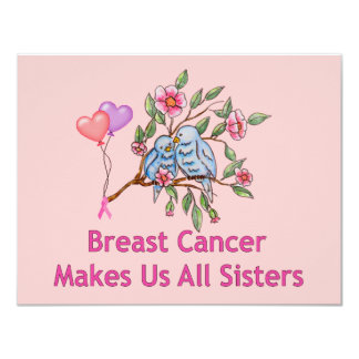 Breast Cancer Sisters 11 Cm X 14 Cm Invitation Card