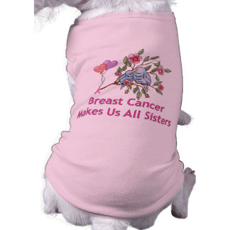 Breast Cancer Sisters Pet Tee Shirt