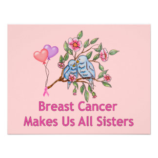 Breast Cancer Sisters Personalized Announcement