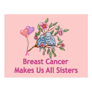 Breast Cancer Sisters Postcard