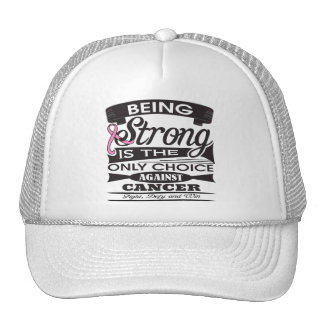 Breast Cancer Strong is The Only Choice Mesh Hats