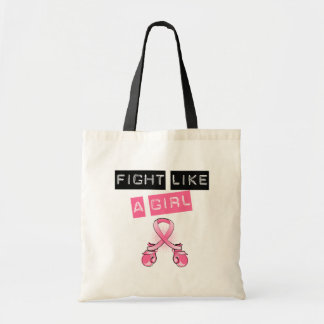 Breast Cancer Stylish Fight Like A Girl Label Bags