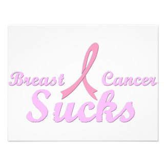 Breast cancer sucks personalized announcement