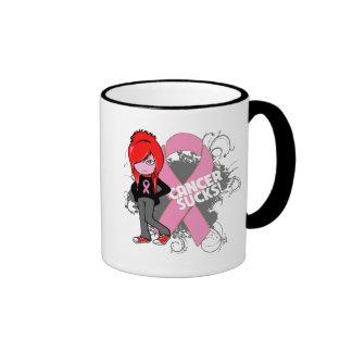 Breast Cancer Sucks Coffee Mugs