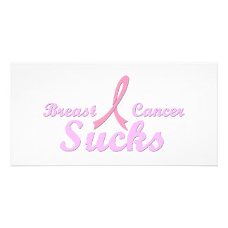Breast cancer sucks photo card template