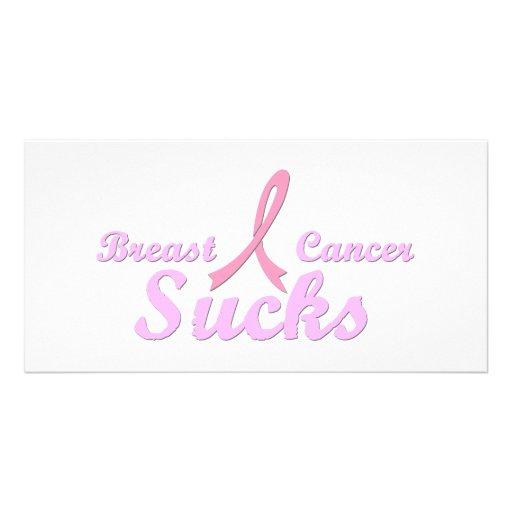 Breast cancer sucks photo cards