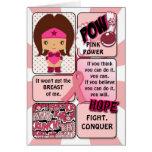 Breast Cancer Super Hero Card