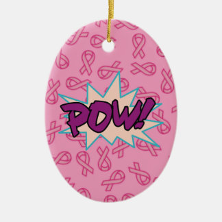 Breast Cancer Super Hero Christmas Ornament