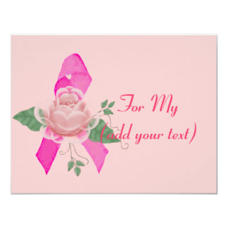 Breast Cancer Support 11 Cm X 14 Cm Invitation Card