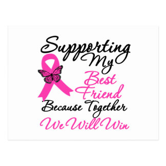 Breast Cancer Support Best Friend Post Cards