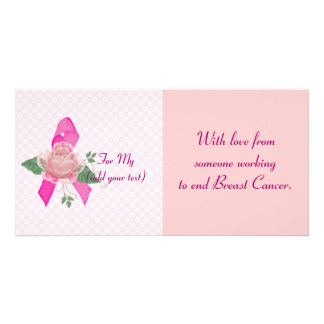Breast Cancer Support Custom Photo Card