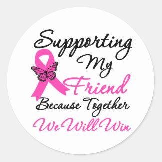 Breast Cancer Support (Friend) Round Stickers