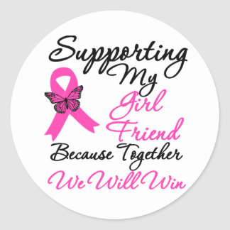 Breast Cancer Support (Girlfriend) Stickers