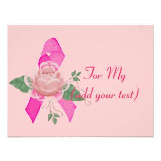 Breast Cancer Support Custom Invitations