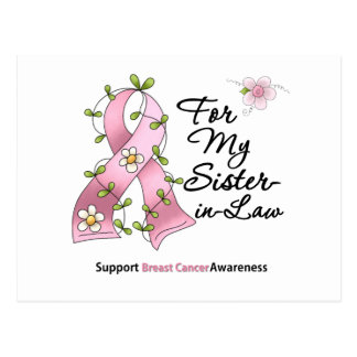Breast Cancer Support Sister-in-Law Postcard
