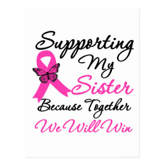 Breast Cancer Support Sister Post Card