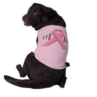 Breast Cancer Support Sleeveless Dog Shirt