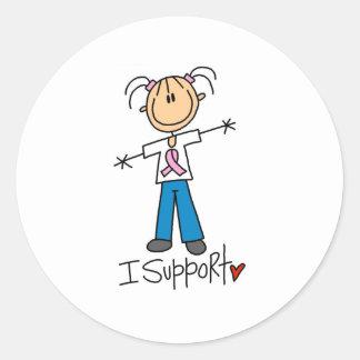 Breast Cancer Support Round Sticker