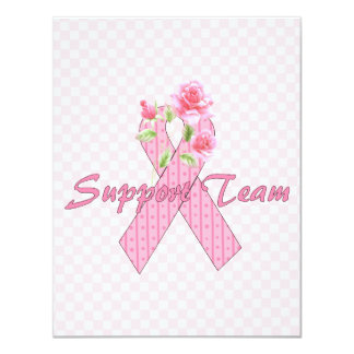 Breast Cancer Support Team 11 Cm X 14 Cm Invitation Card
