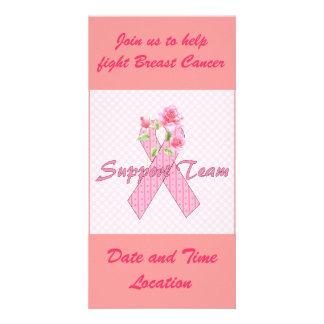 Breast Cancer Support Team Custom Photo Card