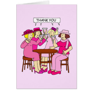 Breast Cancer Support, Thank you, ladies in pink. Card