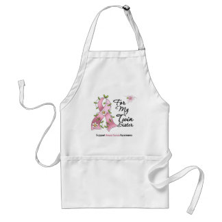 Breast Cancer Support Twin Sister Adult Apron