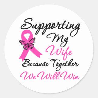 Breast Cancer Support (Wife) Round Sticker
