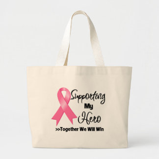 Breast Cancer Supporting My Hero Tote Bag