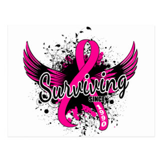 Breast Cancer Surviving Since 1990 Postcard