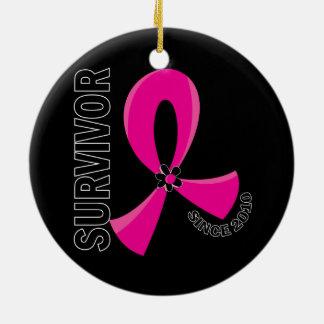 Breast Cancer Survivor 12.2 2010 Round Ceramic Decoration