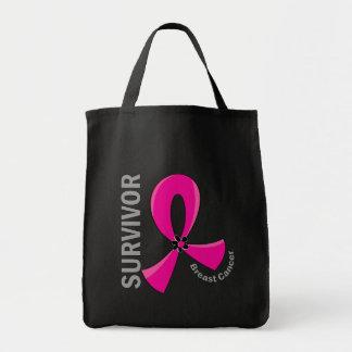 Breast Cancer Survivor 12 Tote Bags