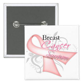 Breast Cancer Survivor 15 Cm Square Badge