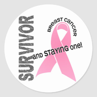 BREAST CANCER Survivor 1 Classic Round Sticker