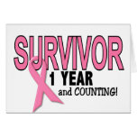 BREAST CANCER SURVIVOR 1 Year & Counting Cards