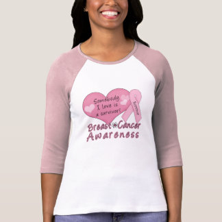 Breast Cancer Survivor 3/4 Sleeve Raglan T-Shirt