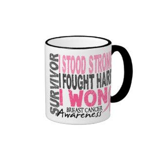 Breast Cancer Survivor 4 Ringer Mug