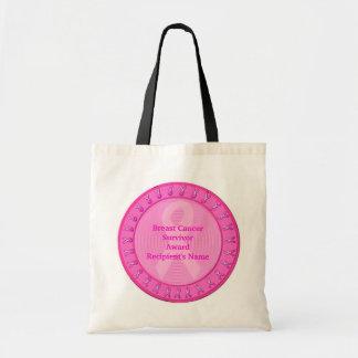 Breast Cancer Survivor Award Budget Tote Bag