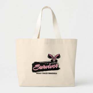 Breast Cancer Survivor Butterfly Canvas Bags