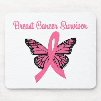 Breast Cancer Survivor Butterfly Mouse Pad